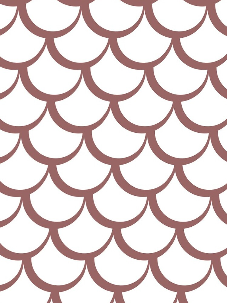 Fish Scales Dusky Pink by pcfm