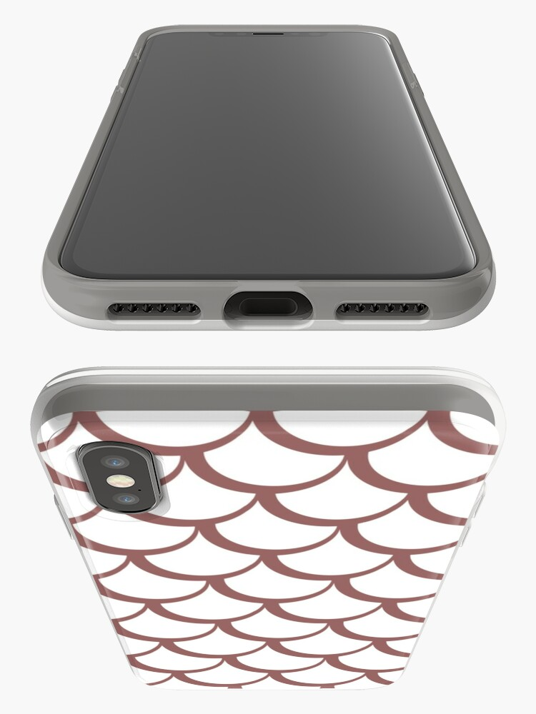 Alternate view of Fish Scales Dusky Pink iPhone Case & Cover