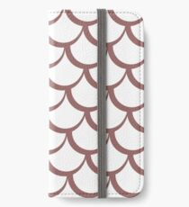 Fish Scales Dusky Pink iPhone Wallet/Case/Skin
