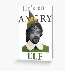 Angry Elf  Greeting Card