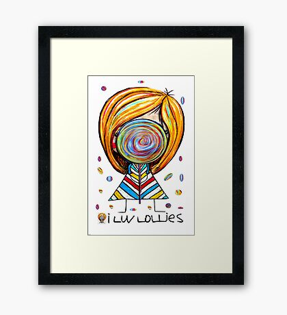 I Love Lollies Framed Print
