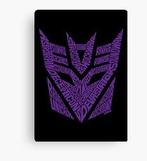Transformers Decepticons Purple Canvas Print