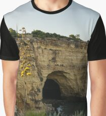 Sea Cave and Agave Bloom Spike - the Magic of Algarve Portugal Graphic T-Shirt