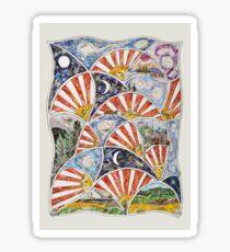 Across the Miles-mixed media-Sue Trickey Sticker