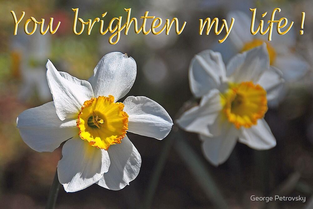 Daffodil Card #2 by George Petrovsky