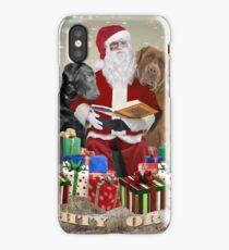Labrador Retrievers  And Santa Naughty or Nice iPhone Case