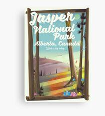 Jasper National park, Canada travel poster Canvas Print
