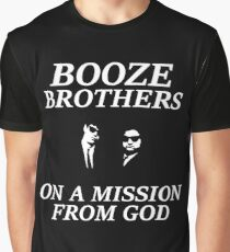 Booze Brothers Mission From God  Graphic T-Shirt