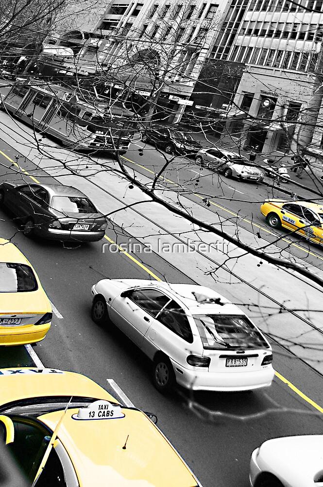 yellow cabs by Rosina  Lamberti