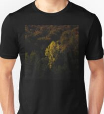 Yellow tree standing out from the crowd T-Shirt