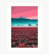 Skagit Valley, Tulip fields Art Print