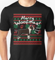 American Staffordshire Terrier Merry Woofmas, Ugly Christmas Sweater Unisex T-Shirt