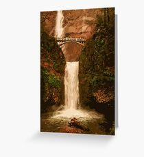 Multnomah Falls in autumn Greeting Card