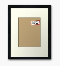 Trashboat is my name now dude! Framed Print