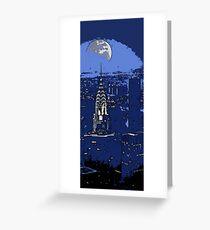 New York Moonlight Greeting Card