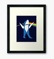 Left Shark of the Moon Framed Print