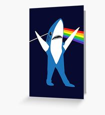 Left Shark of the Moon Greeting Card