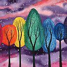 Rainbow on a purple sky by klbailey