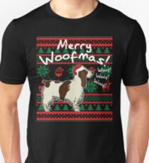English Springer Spaniel Merry Woofmas, Ugly Christmas Sweater Unisex T-Shirt