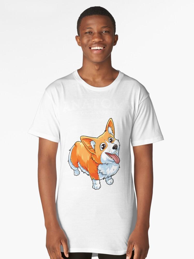 Camisetas largas «Camiseta de anatomía de un Corgi Camiseta de Puppy ...