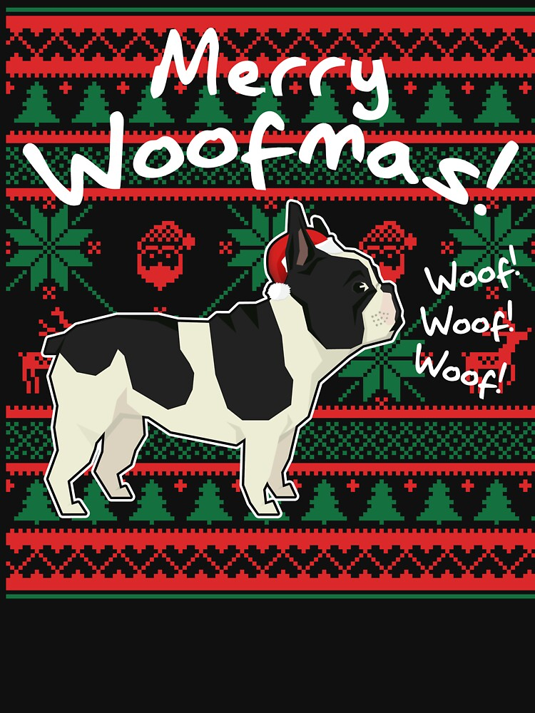 french bulldog merry woofmas ugly christmas sweater by marcoafsousa