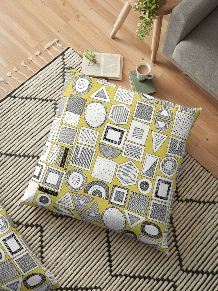 frisson memphis bw yellow by Sharon Turner