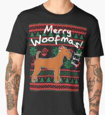 Irish Terrier Merry Woofmas, Ugly Christmas Sweater Men's Premium T-Shirt