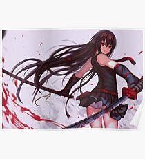 Red eyes sword - Akame ga kill Poster