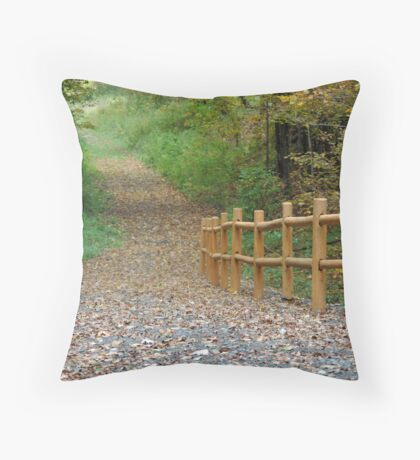stroll in the country Throw Pillow
