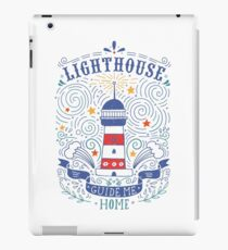 Lighthouse with a hand-lettering quote iPad Case/Skin