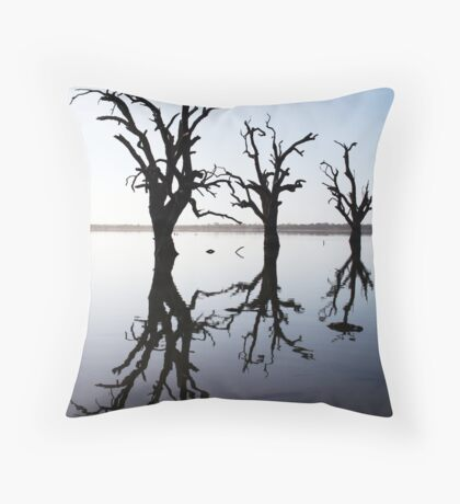 Silent Vigil. Throw Pillow