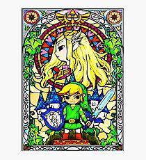 Zelda Wind Waker Glasmalerei Fotodruck