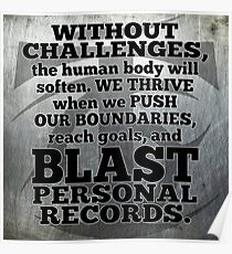 Challenges - Blast Through Personal Records Poster