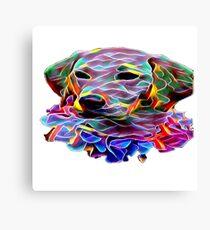 Bright coloured labrador puppy face Canvas Print