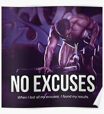 No Excuses Poster