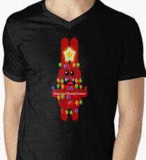 CHRISTMASRABBIT Men's V-Neck T-Shirt