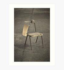 Lonely broken chair Art Print