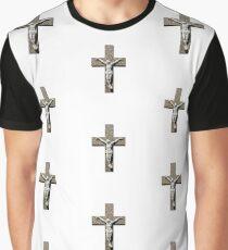 Jesuschrist on a Cross Sculpture Graphic T-Shirt