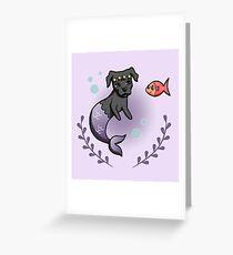 Mermaid Pit Bull 2 Greeting Card