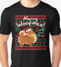 Pomeranian Merry Woofmas, Ugly Christmas Sweater T-Shirt