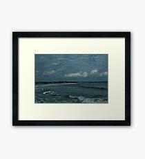 Narragansett Beach after the Storm Framed Print