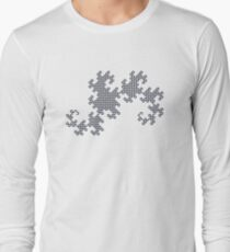 Dragon Curve Fractal - 10 Steps Rounded Long Sleeve T-Shirt