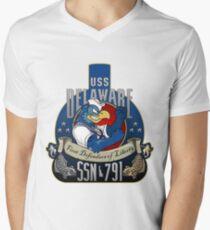 USS Delaware (SSN-791) Crest Men's V-Neck T-Shirt