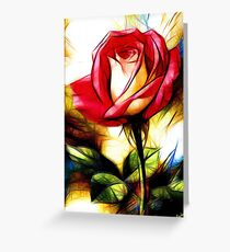 Red rose - flower - rose rouge - fleur - belles épines  lea roche Greeting Card