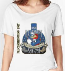 PCU Delaware (SSN-791) Crest for Light Colors Women's Relaxed Fit T-Shirt