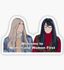 Women and Women First Sticker