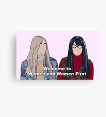 Women and Women First Canvas Print