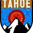 Ski Lake Tahoe Skiing California Nevada Snowboarding Skier by MyHandmadeSigns
