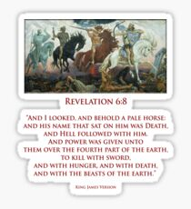 PALE RIDER, Four Horsemen of the Apocalypse, Book of Revelation Sticker