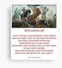 PALE RIDER, Four Horsemen of the Apocalypse, Book of Revelation Canvas Print